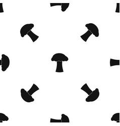 mushroom pattern seamless black vector image