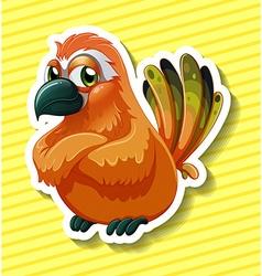 Orange bird vector
