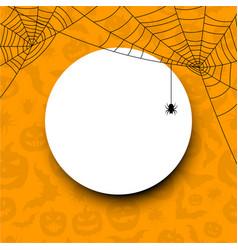 orange round halloween background vector image