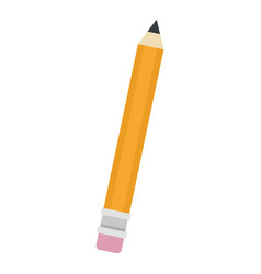 pencil icon flat style vector image