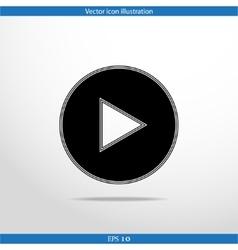 play web flat icon vector image