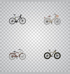 realistic hybrid velocipede journey bike brand vector image