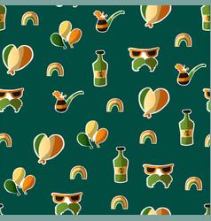 saint patrick s day seamless pattern holiday vector image