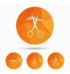 Scissors icons Hairdresser or barbershop symbol vector