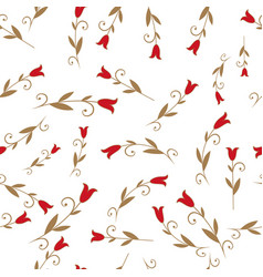 seamless pattern of stylized lilies or tulips on vector image