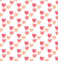 Seamless watercolor hearts background vector
