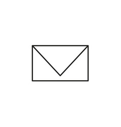 simple mail line icon vector image