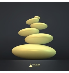 Spa stones 3d vector image