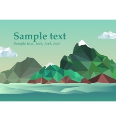 Summer frame into the sea vector image