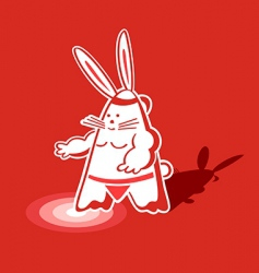 sumo rabbit vector image