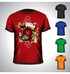 t-shirt set on a casino theme vector image