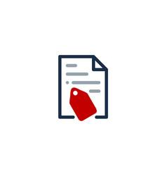 Tag document logo icon design vector