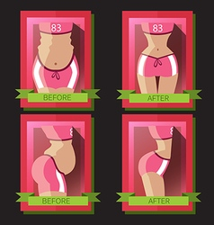 Transformation of a womans body vector