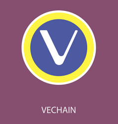 Vechain icon of 3 types color black and white vector