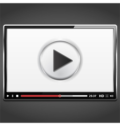 Video Player Template vector image