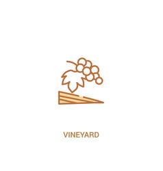 Vineyard concept 2 colored icon simple line vector