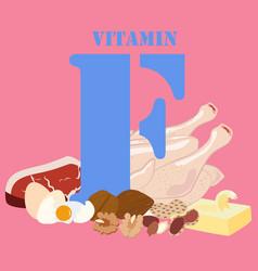 Vitamin f healthy nutrient rich food vector