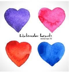 watercolor of color heart vector image