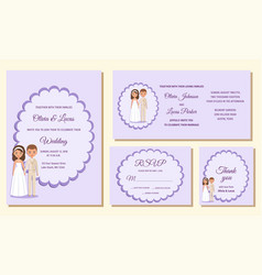wedding invitation templates greeting cards vector image