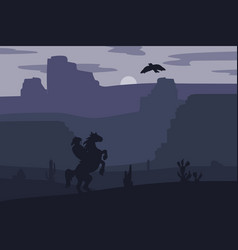 Wild west landscape vector