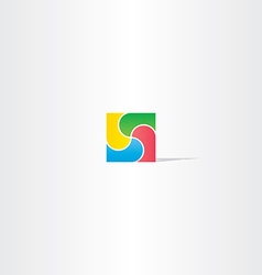 colorful square business logo design abstract icon vector image vector image