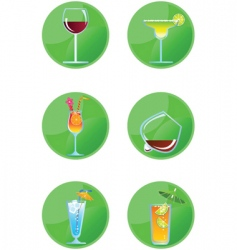 icon drinks vector image
