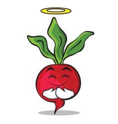 innocent radish character cartoon collection vector image