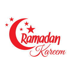 ramadan kareem crescent moon vector image vector image
