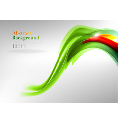wave neon light white vector image vector image