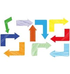 abstract color arrows vector image