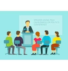 Business or policies message giving speech vector image vector image