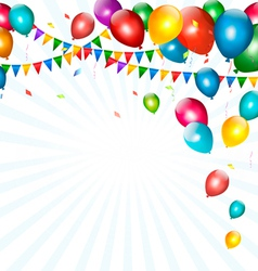 Holiday background with colorful balloons and vector image vector image