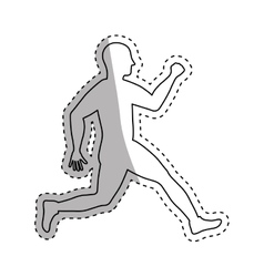 man running fitness vector image vector image