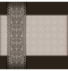 Old paper and lace ribbon vector image vector image