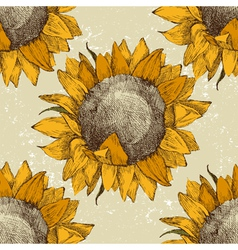 sunflower seamless vector image vector image