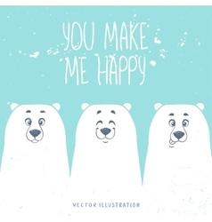 bears white vector image