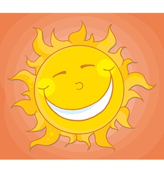 Happy Sun Mascot Cartoon Character vector image