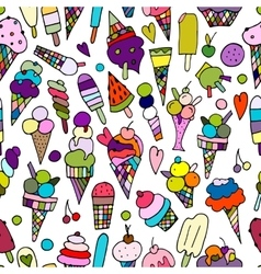 Icecream collection seamless pattern for your vector image