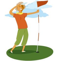 Senior golf vector image vector image