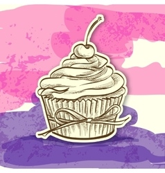 sticker colorful cake vector image vector image