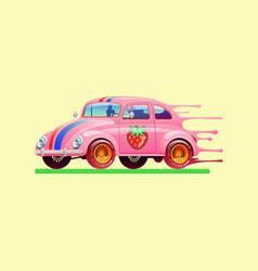 bubble gum car vector image
