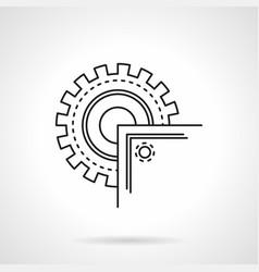 circular saw blade flat line icon vector image vector image