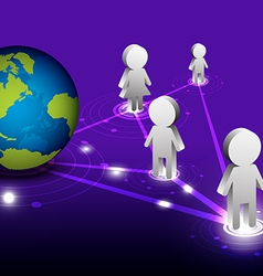 global network communication vector image