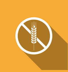 gluten free grain no wheat sign food intolerance vector image vector image