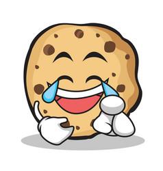 joy face sweet cookies character cartoon vector image
