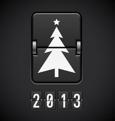Scoreboard Christmas Tree vector image