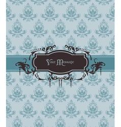 vintage ornamental card vector image
