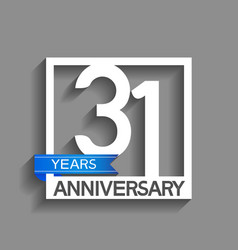 31 years anniversary logotype with white color in vector