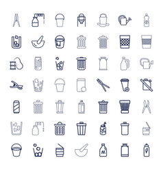 49 can icons vector