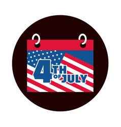 4th july independence day calendar date vector image
